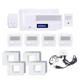 IntraSonic RETRO-MH4PAC 4-Room Horizontal Intercom Kit W-Bluetooth