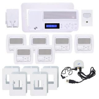 IntraSonic RETRO-MVPAC 5-Room Vertical Intercom Kit W-Bluetooth