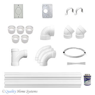 Universal  1-Inlet Low Voltage Installation Kit for VACUFLO