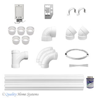 Universal  1-Inlet Electric Installation Kit for VACUFLO