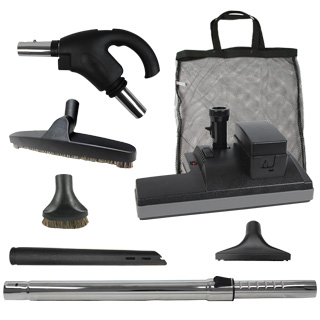 Universal  Hide-A-Hose Accessory Kit with Cordless Powerhead for VACU-MAID