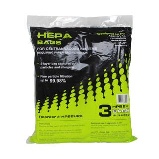 VacuMaid HPB2 Central Vacuum Bags HEPA 3-Pk