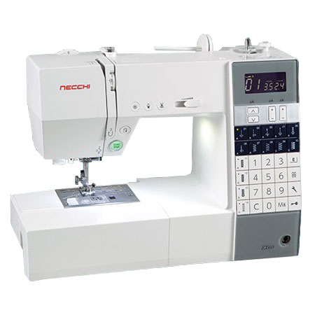 Necchi EX60 Sewing Machine Plus FREE Even Feed and Cording Feet