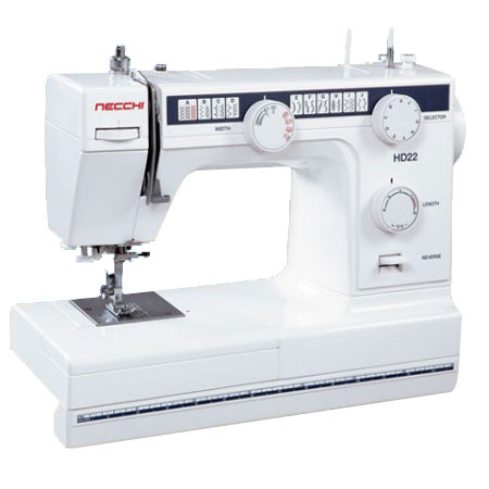 "Necchi HD22 Sewing Machine with FREE 1/4"" and Rolled Hem Feet"